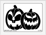 Dreamweaver Large Brass Stencil - Jack O' Lanterns