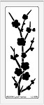 Dreamweaver Large Brass Stencil - Plum Blossom Branch
