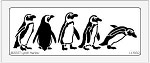 Dreamweaver Large Brass Stencil - Penguins