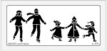 Dreamweaver Large Brass Stencil - Skater Family