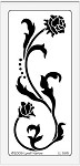 Dreamweaver Large Brass Stencil - Tall Rose Flourish