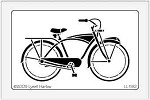 Dreamweaver Large Brass Stencil - Bicycle