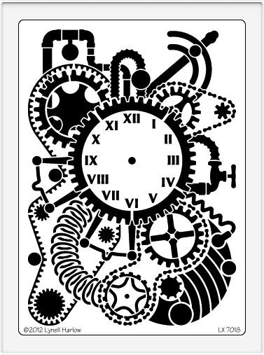 Dreamweaver Metal Stencil - Steampunk Clock