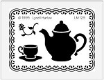 Dreamweaver Medium Brass Stencil - Teapot