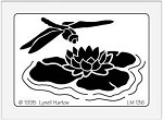 Dreamweaver Meium Brass Stencil - Dragonfly & Lily Pad