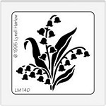 Dreamweaver Medium Brass Stencil - Medium Lily of the Valley
