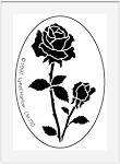 Dreamweaver Medium Brass Stencil - Oval Rose