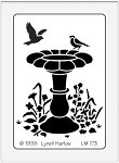 Dreamweaver Medium Brass Stencil - Birdbath
