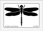 Dreamweaver Medium Brass Stencil - Dragonfly