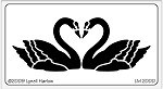 Dreamweaver Medium Brass Stencil - Facing Swans