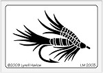 Dreamweaver Medium Brass Stencil - Fishing Lure