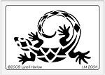 Dreamweaver Medium Brass Stencil - Southwest Lizard
