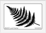 Dreamweaver Medium Brass Stencil - Fern Frond