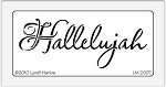 Dreamweaver Medium Brass Stencil - Hallelujah