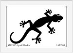 Dreamweaver Medium Brass Stencil - Large Gecko