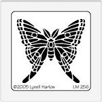 Dreamweaver Medium Brass Stencil - Luna Moth