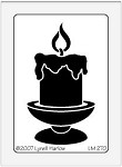 Dreamweaver Medium Metal Stencil - Single Candle