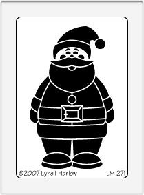 Dreamweaver Medium Metal Stencil - Small Santa