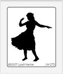 Dreamweaver Medium Brass Stencil - Hula Girl