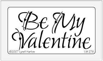 Dreamweaver Medium Metal Stencil - Be My Valentine