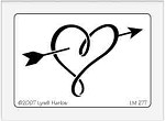 Dreamweaver Medium Metal Stencil - Heart n Arrow