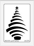 Dreamweaver Medium Brass Stencil - Swooshy Christmas Tree