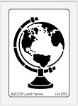 Dreamweaver Medium Metal Stencil - Globe