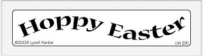Dreamweaver Medium Brass Stencil - Happy Easter