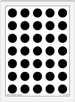 Dreamweaver Extra Large Metal Stencil - Big Dots