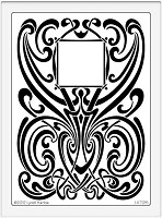 Dreamweaver Extra Large Metal Stencil - Art Nouveau Background