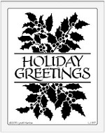 Dreamweaver Jumbo Brass Stencil - Holiday Greetings