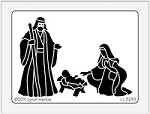 Dreamweaver Large Brass Stencil - Nativity