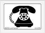 Dreamweaver Medium Metal Stencil - Telephone