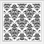 Dreamweaver Extra Large Brass Stencil - Damask
