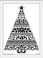 Dreamweaver Extra Large Brass Stencil - Ornate Christmas Tree
