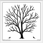 Dreamweaver Extra Large Stencil - Tree