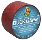 "Duck Tape - 1.88"" x 10 Yard Roll - Glitter Duck Tape - Red Sparkle"
