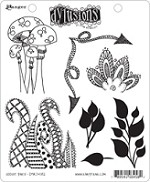 Dylusions-Rubber Stamp-Doodle Parts