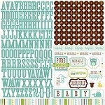 "Echo Park - Bundle Of Joy Boy Collection - 12""x12"" Stickers Sheet - Alphabet"