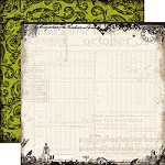 "Echo Park - Chillingsworth Manor - 12""x12"" Cardstock - Timeless Cobwebs"