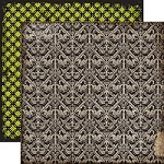 "Echo Park - Chillingsworth Manor - 12""x12"" Cardstock - Gray Damask"
