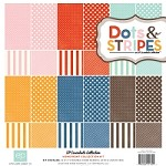 "Echo Park - Dots & Stripes Homefront 12""x12"" Paper Pack"