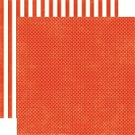 "Echo Park  - Dots & Stripes Homefront 12""x12"" paper - Ladybug Tiny Dots"