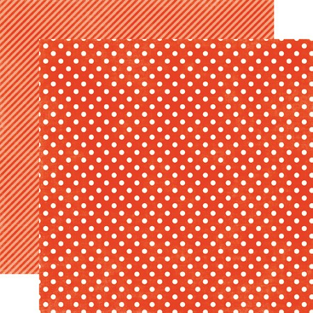 "Echo Park - Dots & Stripes Homefront 12""x12"" paper - Ladybug Small Dots"