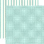 "Echo Park - Dots & Stripes Homefront 12""x12"" paper - Robin's Egg Tiny Dots"