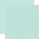 "Echo Park - Dots & Stripes Homefront 12""x12"" paper - Robin's Egg Small Dots"