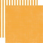 "Echo Park - Dots & Stripes Homefront 12""x12"" paper - Marmalade Tiny Dots"