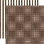 "Echo Park - Dots & Stripes Homefront 12""x12"" paper - Chestnut Tiny Dots"