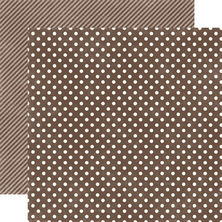 "Echo Park - Dots & Stripes Homefront 12""x12"" paper - Chestnut Small Dots"