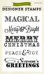 Echo Park - Designer Clear Stamps - Christmas Sentiments